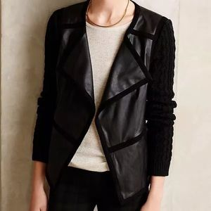 Elevenses Anthropologie Faux Leather Jacket Small